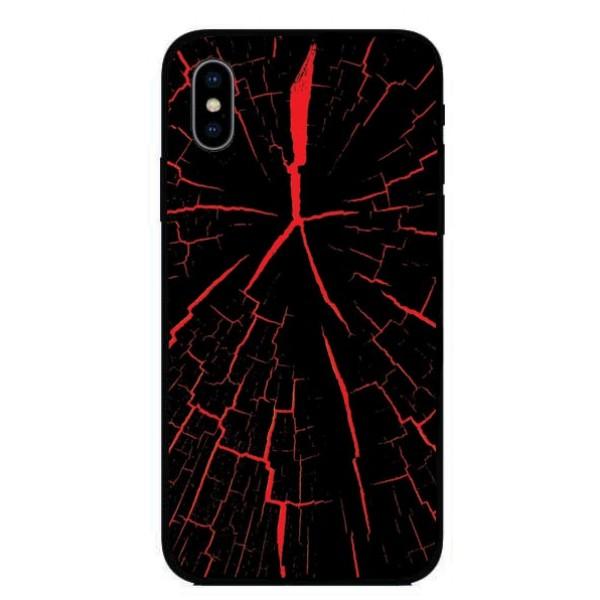 Калъфче за Huawei 249 червен, дърво