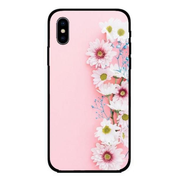 Калъфче за Nokia 223 розов с цветя