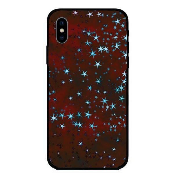 Кейс за Motorola 313 червен на звезди