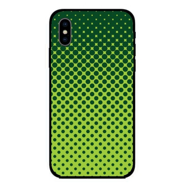 Кейс за Nokia 345 зелен на точки