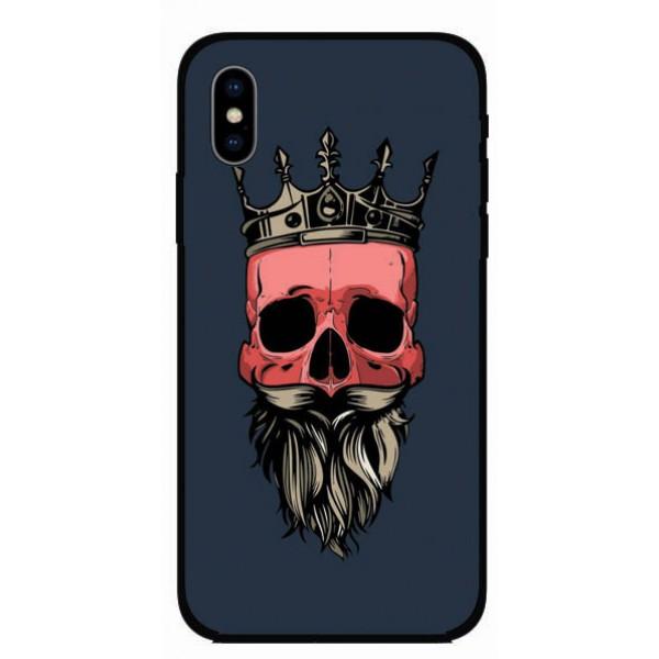 Калъфче за Samsung 101+23 череп с брада и корона