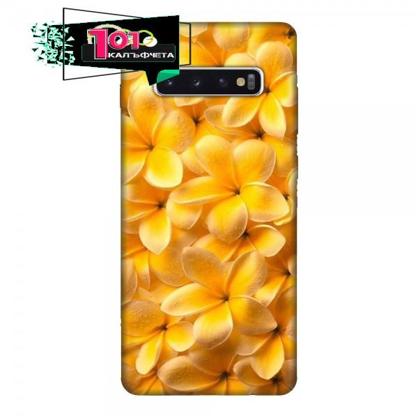 Калъфче за Samsung 101+36 Жълти цветя