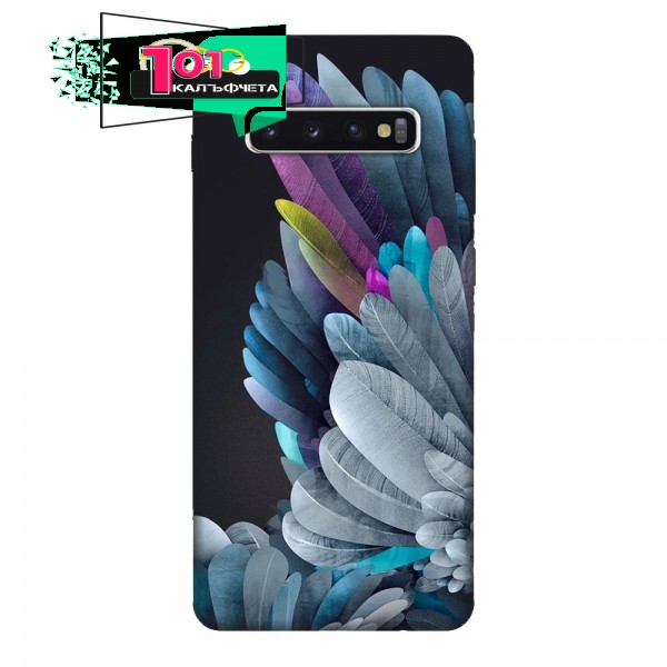 Калъфче за Samsung 101+86 цветни пера