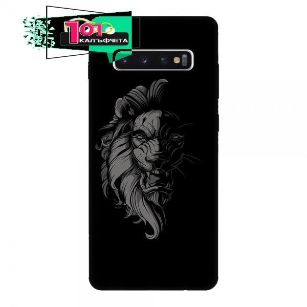 Калъфче за Samsung 101+97  Blacknwhite lion