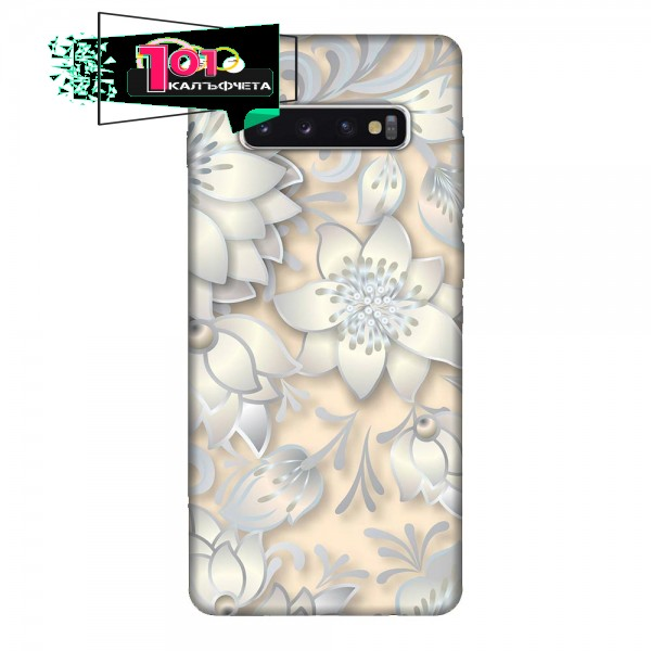 Калъфче за Samsung 227 бледо розови цветя