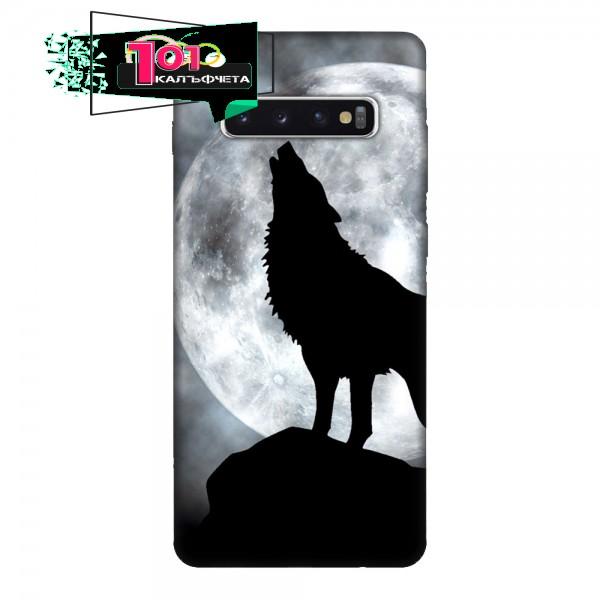 Кейс за Samsung 443 черен вълк