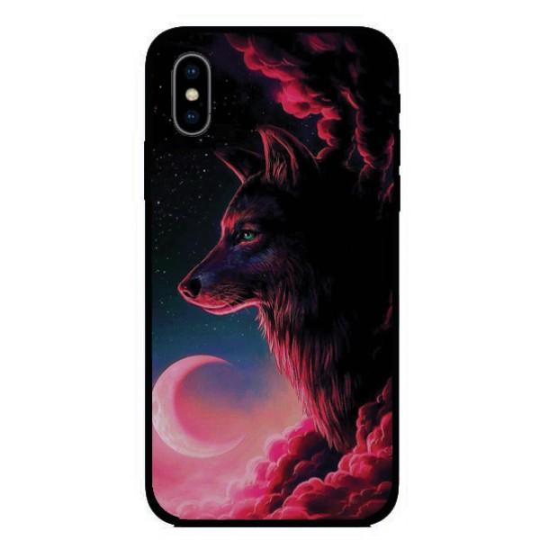 Калъфче за Motorola 101+55 вълк и луна