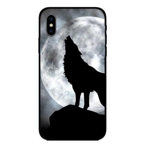 Кейс за iPhone 405 черен вълк