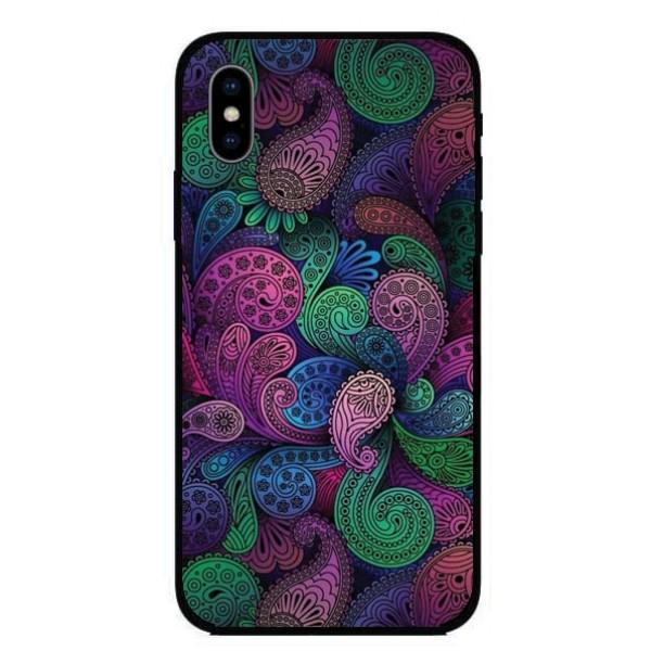 Кейс за iPhone 431 цветни шарки