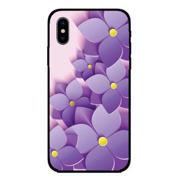 Кейс за iPhone 433 лилави цветя