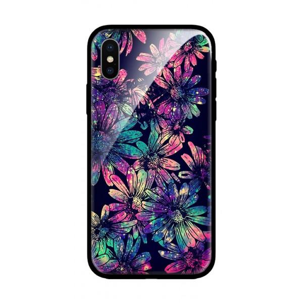 Стъклен кейс за iPhone Dark Flowers 521