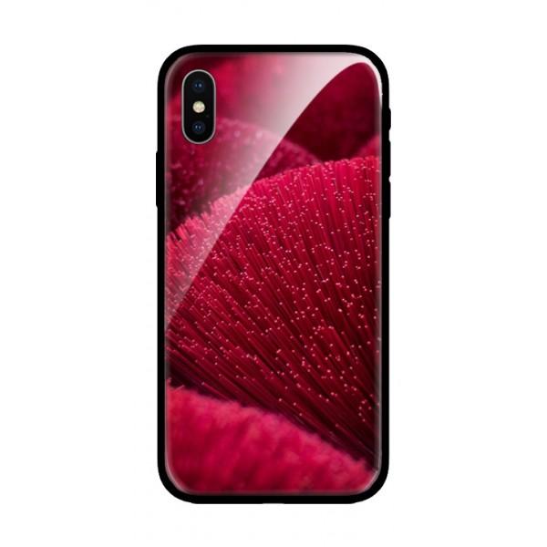 Стъклен кейс за iPhone червен 475