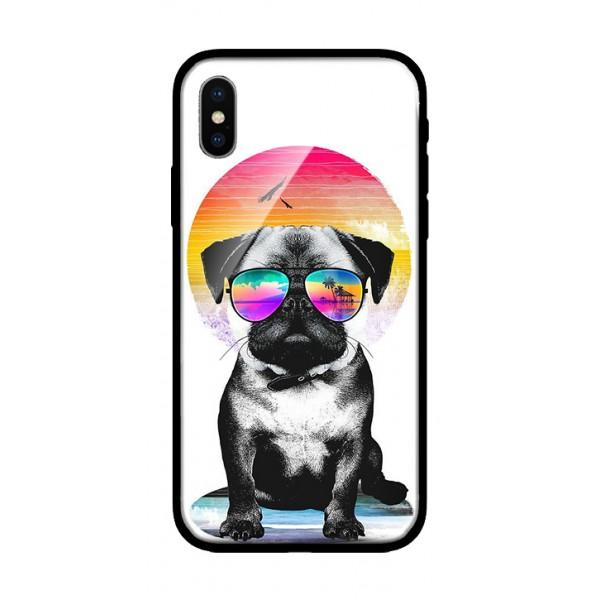 Стъклен кейс за iPhone куче 453