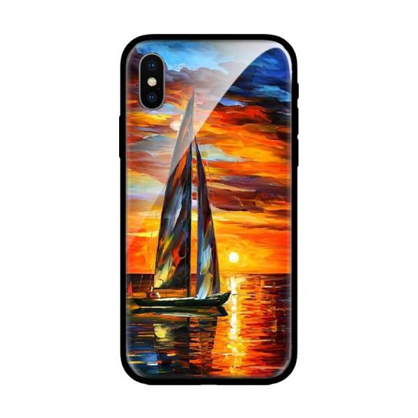 Стъклен кейс за iPhone лодка 407