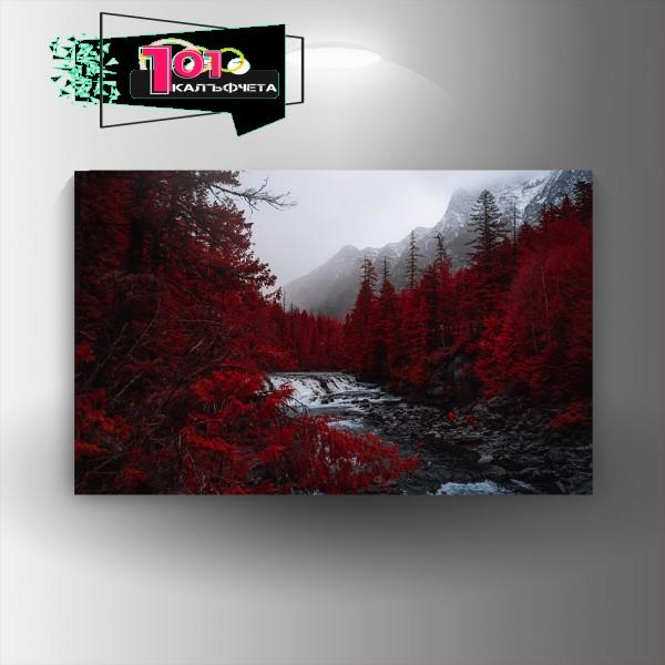 Картина-канава Червената гора