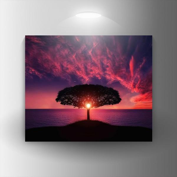 Картина-канава Дърво и залез
