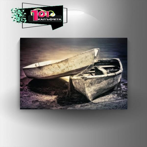 Картина-канава Две лодки
