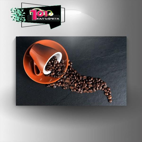 Картина-канава Кафе
