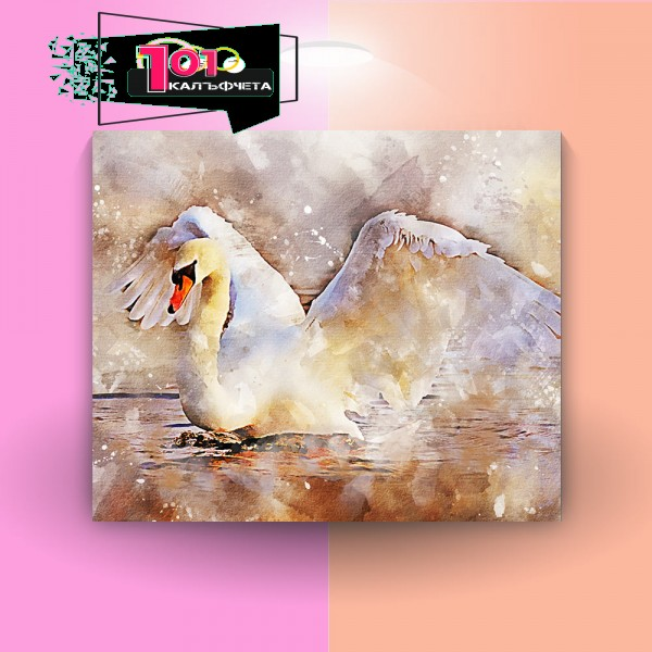 Картина-канава Лебед