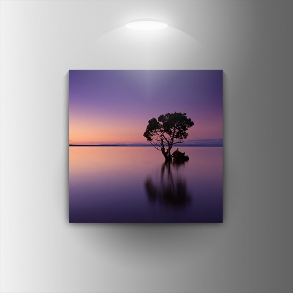 Картина-канава Лилав пейзаж