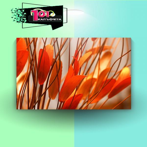 Картина-канава Оранжеви листа