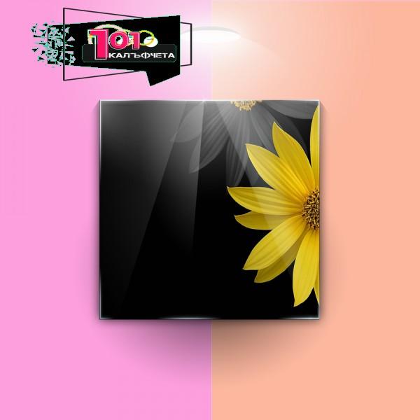 Картина на закалено стъкло Цветя