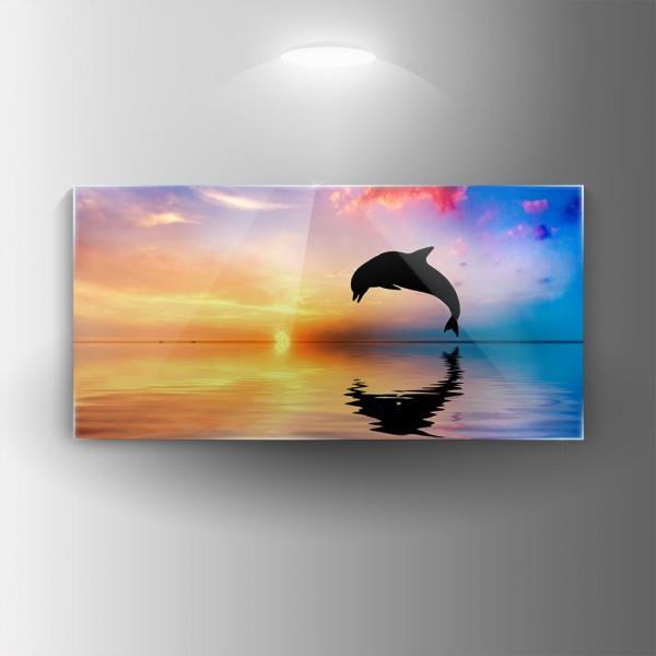 Картина на закалено стъкло Делфин