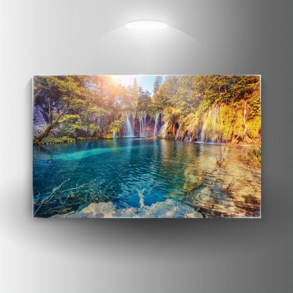 Картина на закалено стъкло Езеро