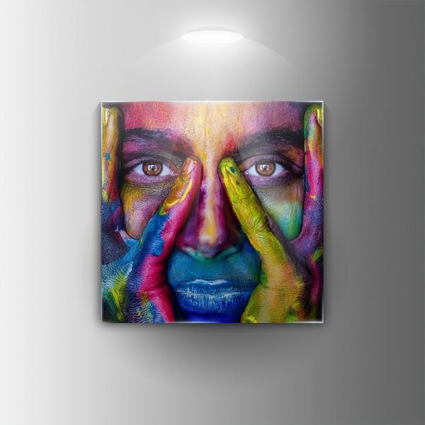 Картина на закалено стъкло Лице