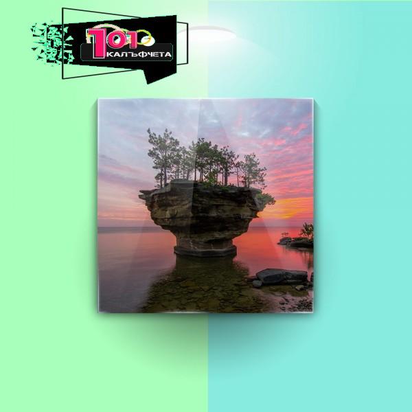 Картина на закалено стъкло Остров