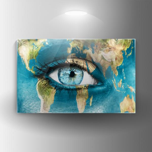 Картина на закалено стъкло Планета