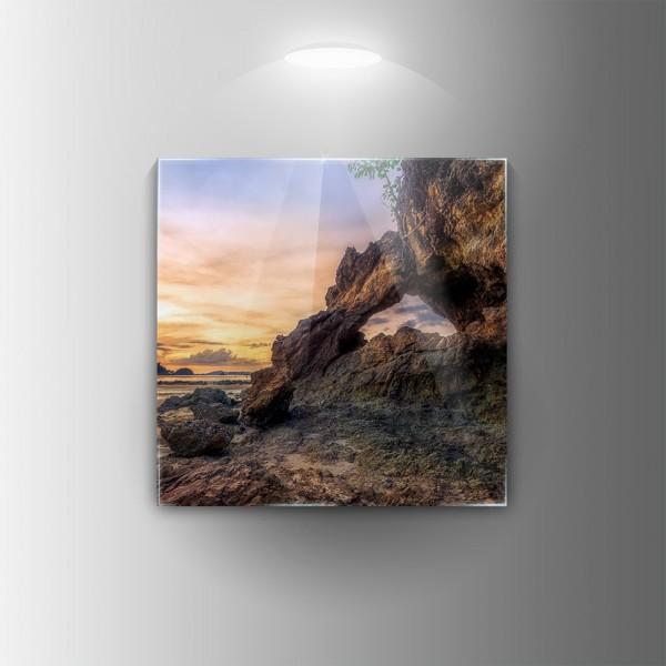 Картина на закалено стъкло Скали