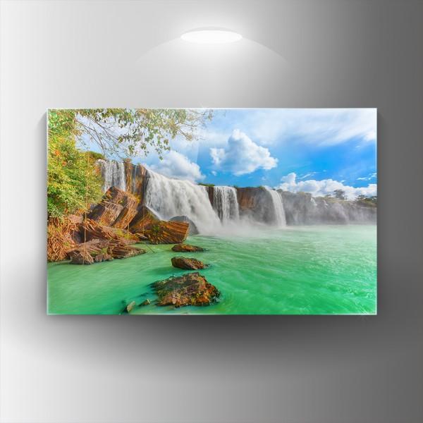 Картина на закалено стъкло Водопад