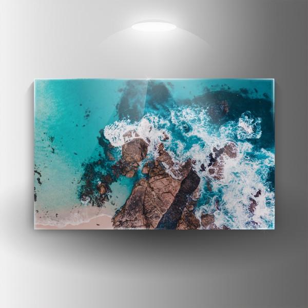Картина на закалено стъкло Вълни