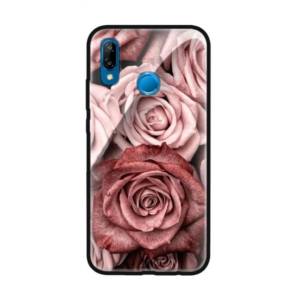 Стъклен кейс за Huawei P30 PRO рози 424