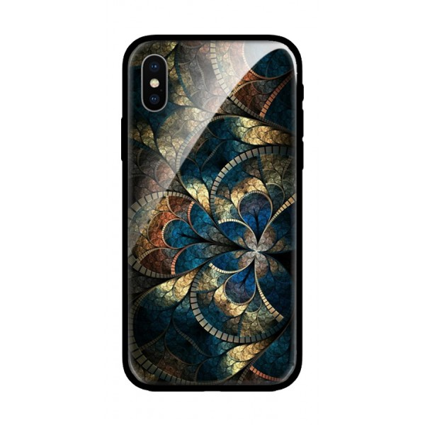 Стъклен кейс за Samsung A7 2018 цветя 434