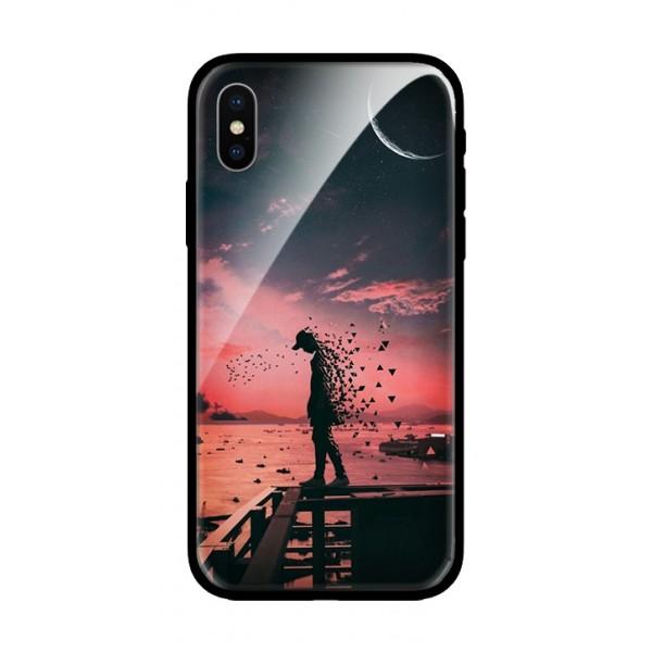 Стъклен кейс за iPhone XS Max пейзаж 396