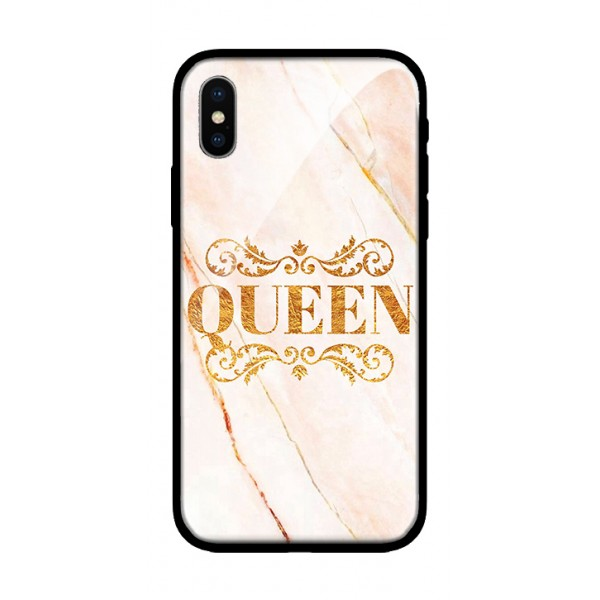 Стъклен кейс за iPhone XS Max queen 350