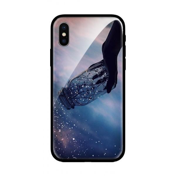 Стъклен кейс за iPhone XS Max звезди в буркан 101+32