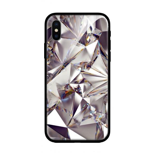 Стъклен кейс за iPhone XS диамант 430