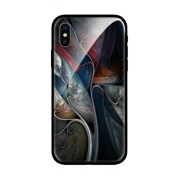 Стъклен кейс за iPhone XS красиви шарки 432