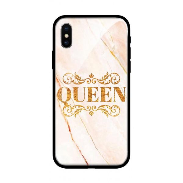Стъклен кейс за iPhone XS queen 350